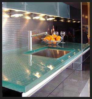 Glass-kitchen-countertops